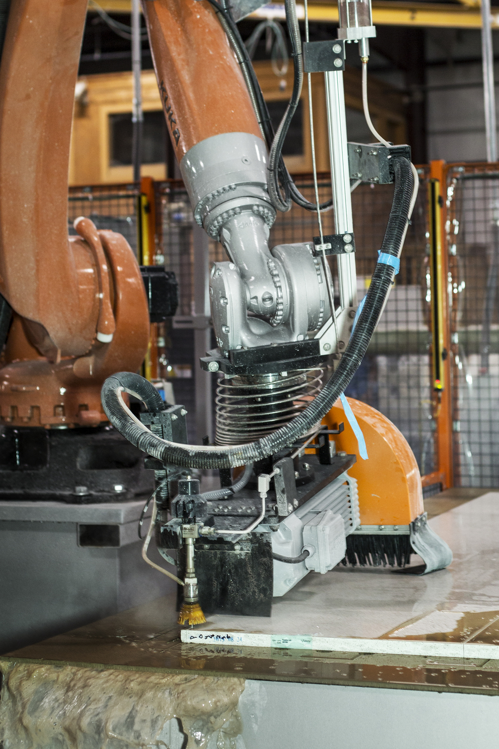 Robo SawJet Stone Cutting Equipment at Seven Stone Surface Fabricator, Atlanta, GA
