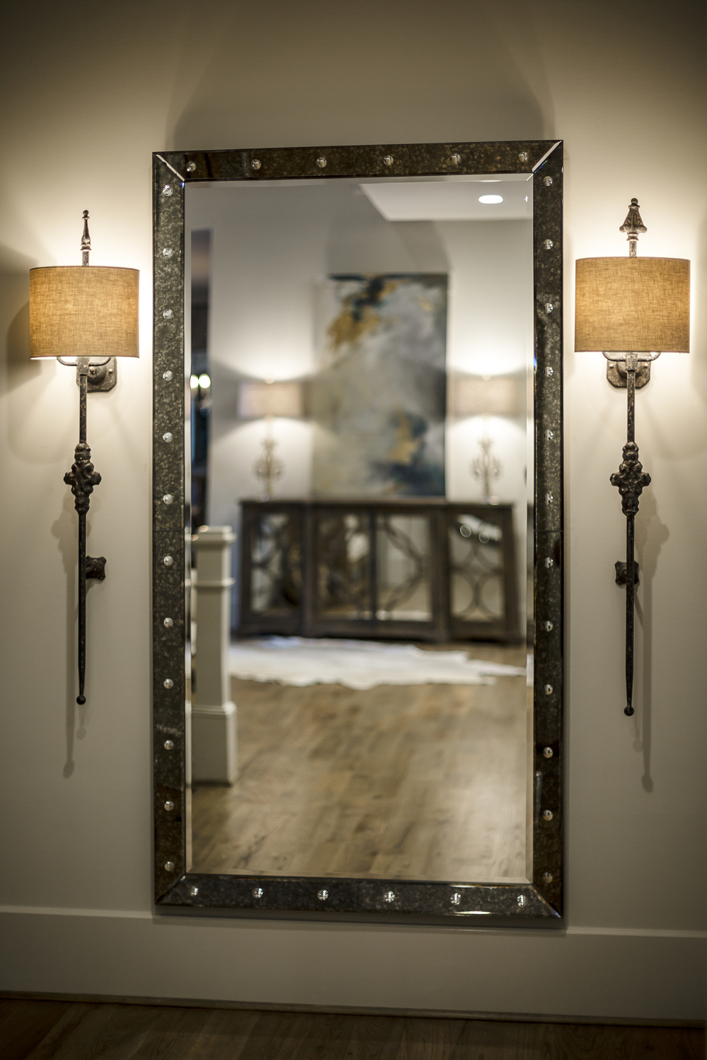 Mirror and Sconces for Outrageous Interiors, Atlanta, GA