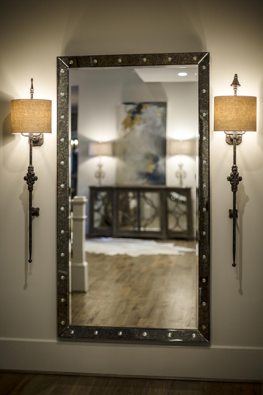 Mirror and Sconces for Outrageous Interiors, Atlanta, GA
