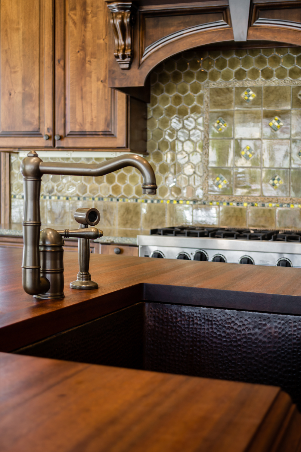 Rubbed Bronze Faucet Fixture for Insidesign Showroom, Atlanta, GA
