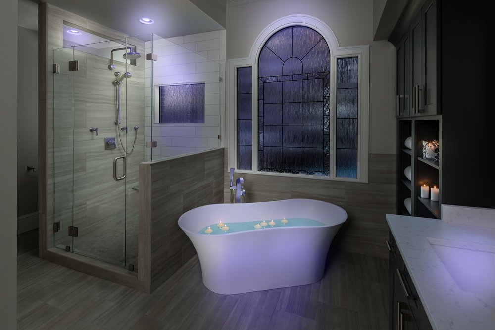 Direct Build Bathroom Sales Product Shoot - Mood Lighting