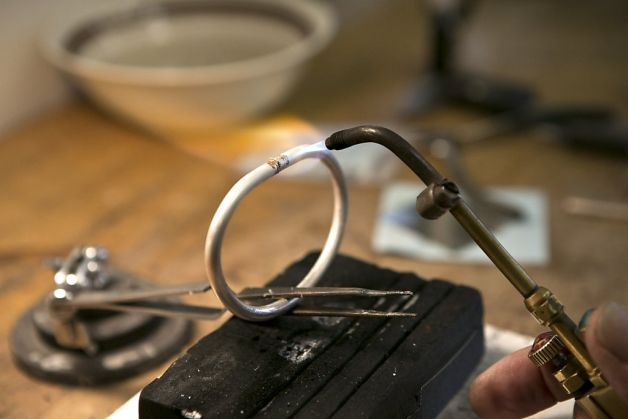 Soldering a silver ring