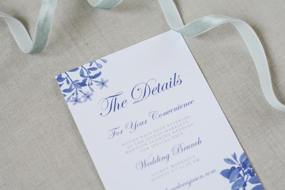 Vintage Botanical Classic Wedding Invitation Suite