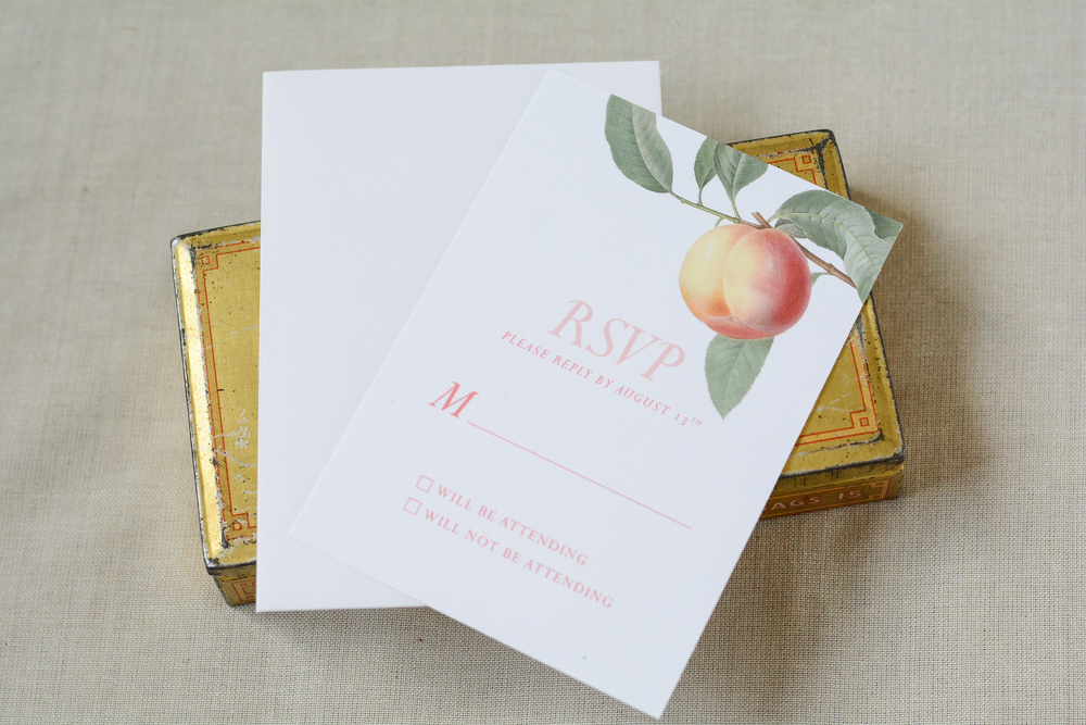 Vintage Rustic Botanical Peach Wedding Suite