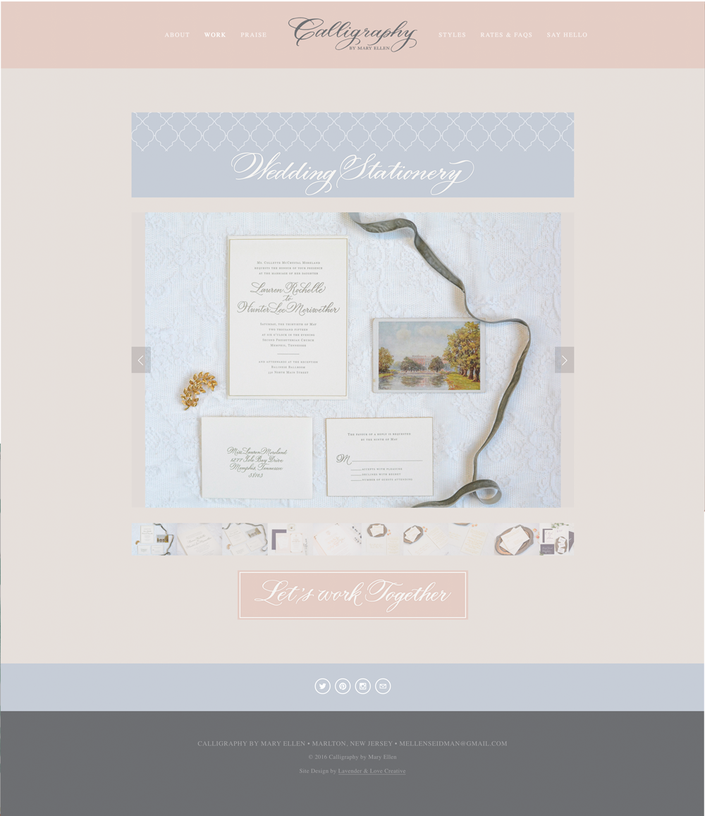 WEDDING STATIONERY PAGE