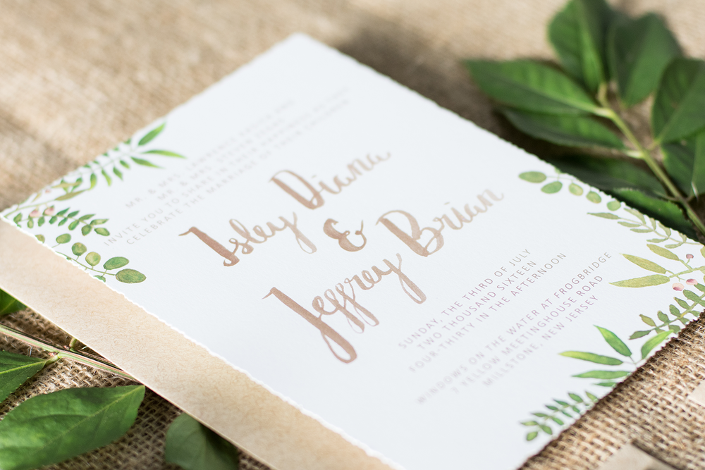 Rustic New Jersey Wedding | Rustic Wedding Suite | Botanical Wedding Suite