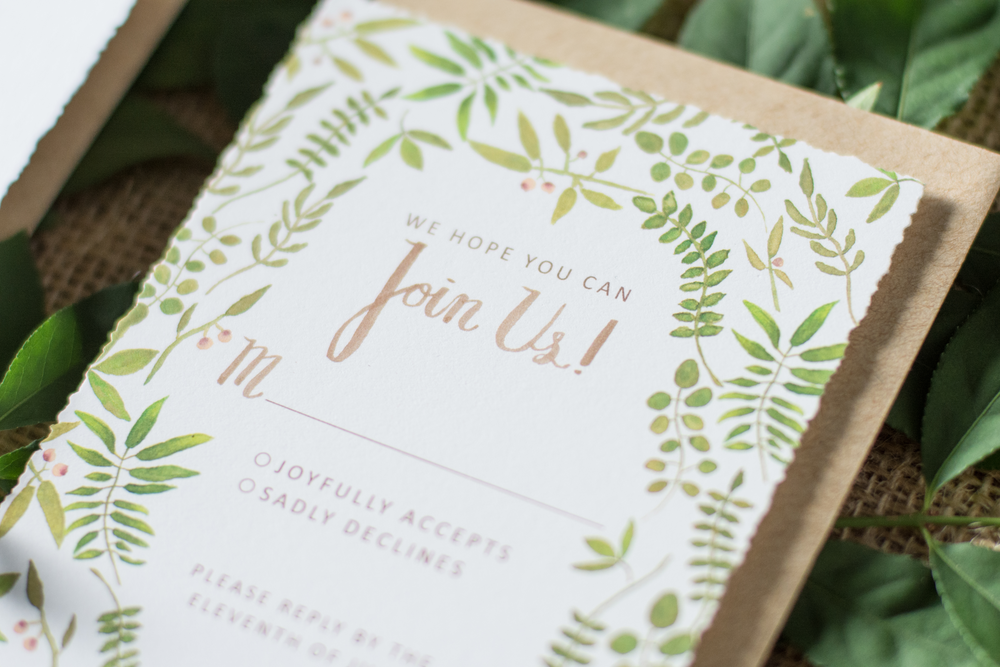 Custom Wedding Stationery A Central New Jersey Design Studio