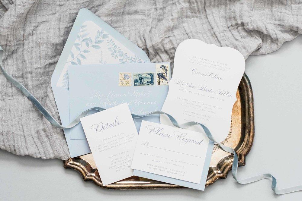 The Corrine Suite | Dusty Blue Wedding Suite