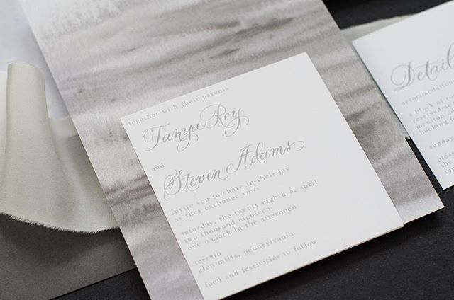 Gray is always a good idea. Calligraphy by @maryellencalligraphy
