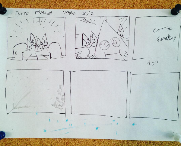 Storyboard inicial de la Intro del Trailer