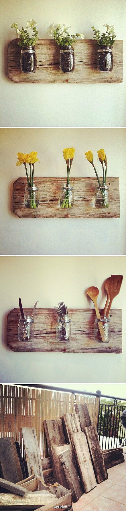 Mason-jar-interior-design-recycled-wood-back-kictchen-idea-etsy-pinterest