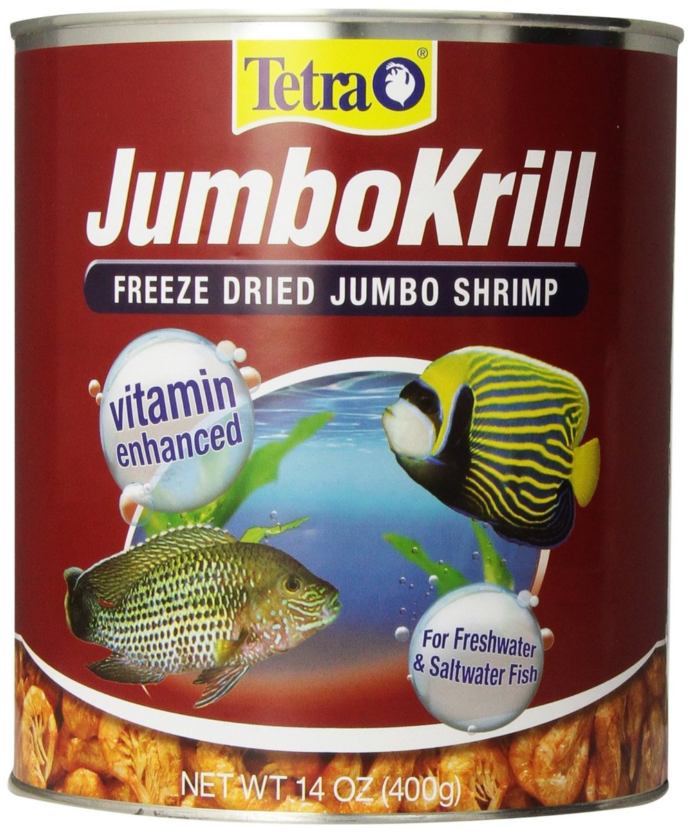 Freshwater aquarium fish vitamins - Tetra Jumbokrill Freeze Dried Jumbo Shrimp