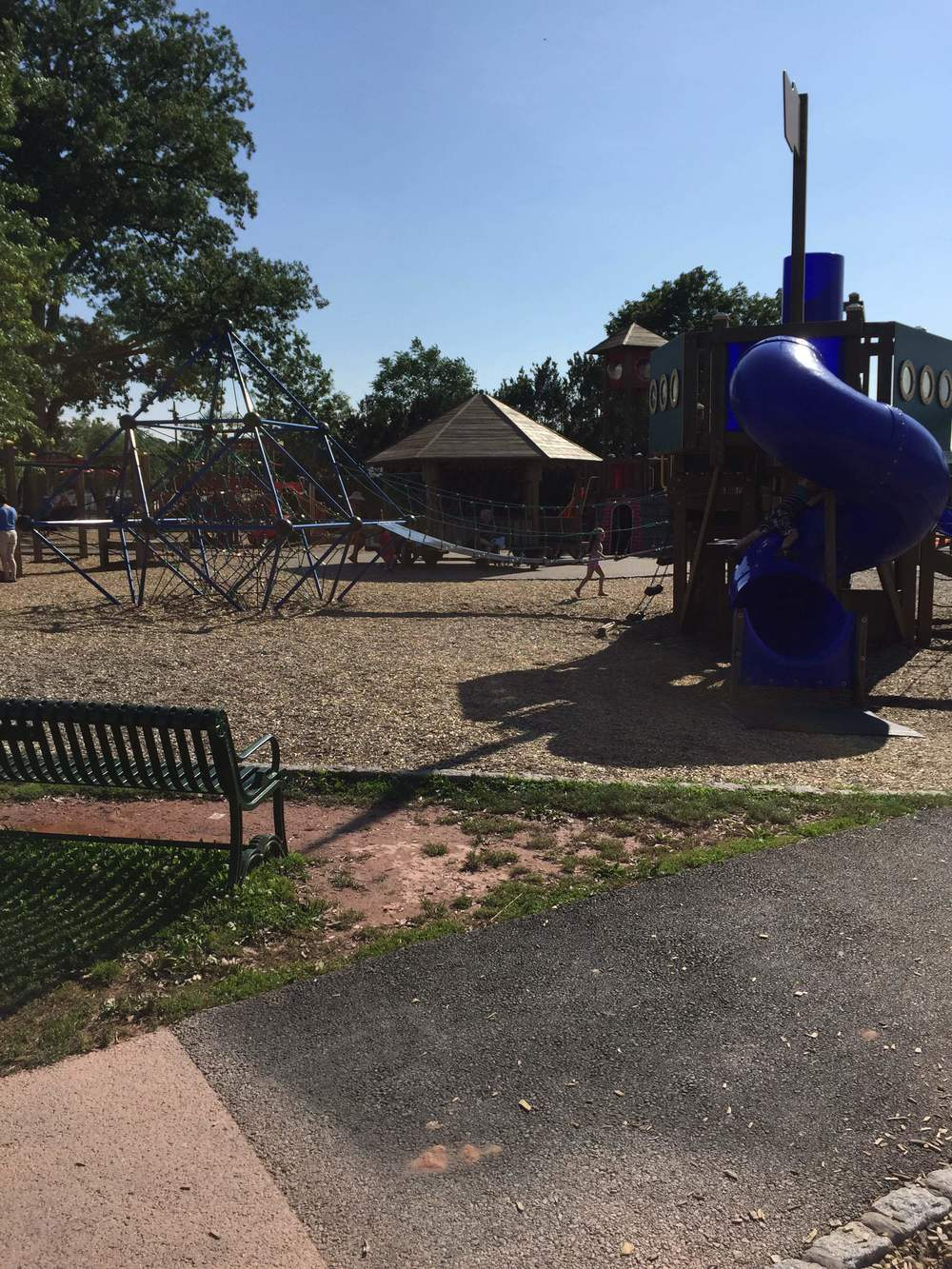 The playground set outside the beach area