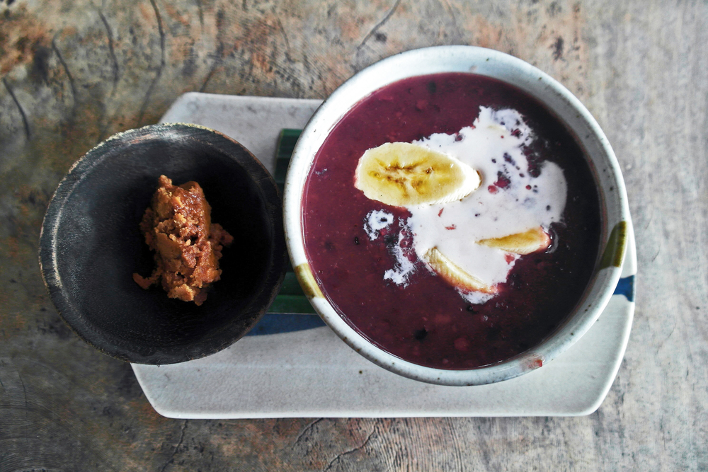 Black Rice Pudding a la Yoga Barn