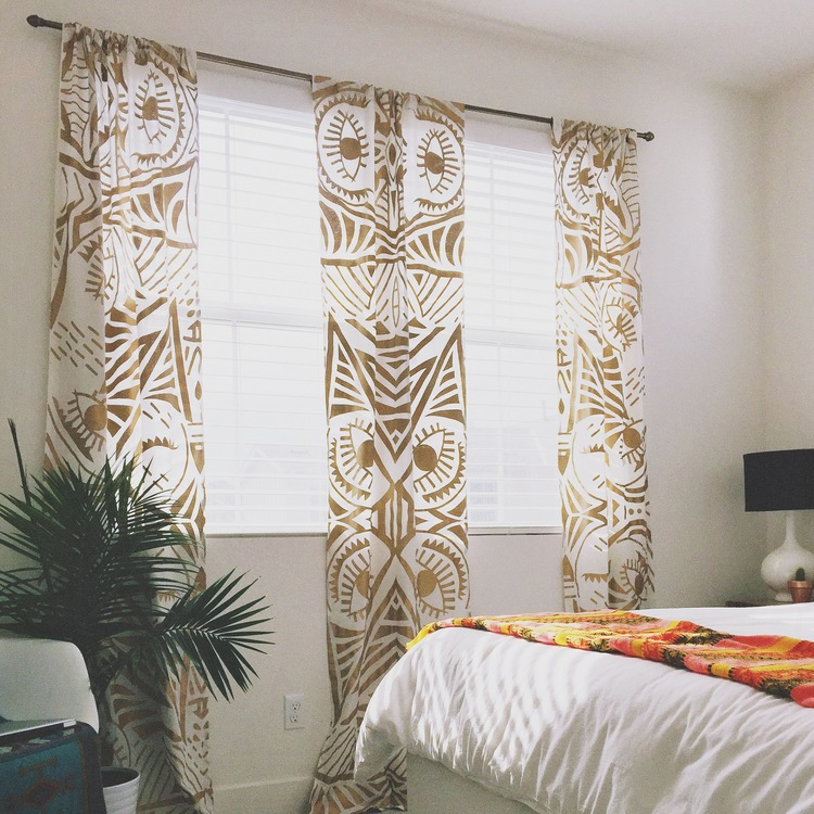 TAPESTRY CURTAINS DIY