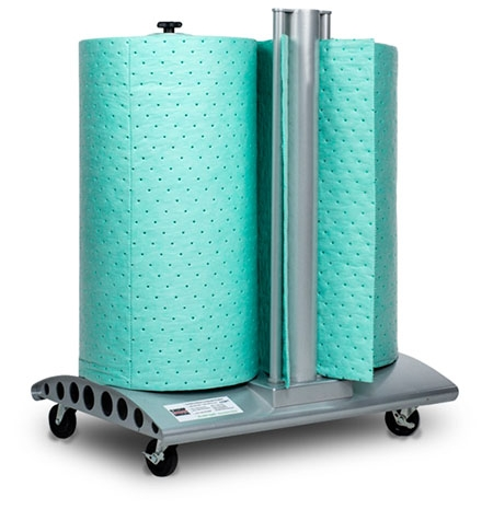 EcoDri-Safe™ Absorbent Rolls, shown with Wheeled Multi Dispenser (sold separately)