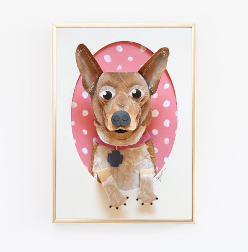 Corgi Wall Art Paper Sculpture
