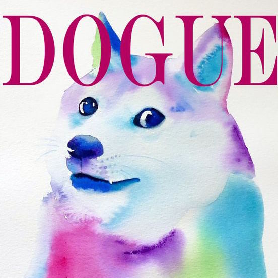 Dogue Watercolor Wall Print