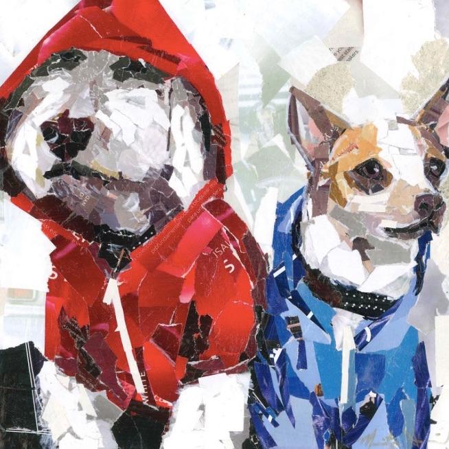 Collage Dog Portrait by Maritza Hernandez