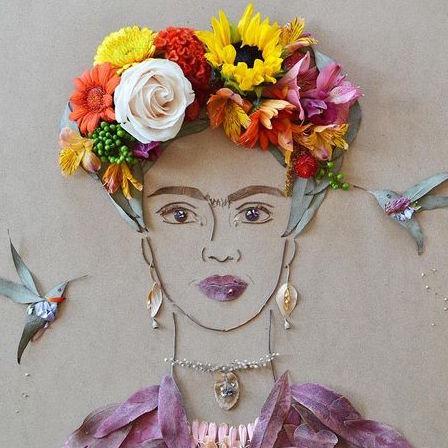 Mixed Media Frida Kahlo Art