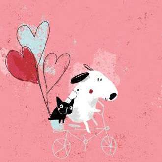 """Oscar & Lola"" Dog Illustration by Sophia touliatou"