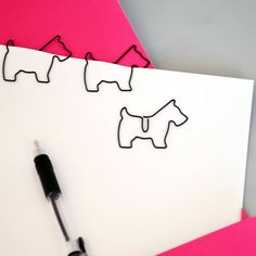 Dog Shaped Paperclips