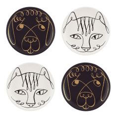 Kate Spade Woodland Park Cat vs. Dog Coasters
