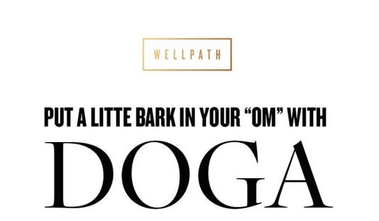 """Put a Little Bark in Your """"Om"""" With Doga Infographic"""