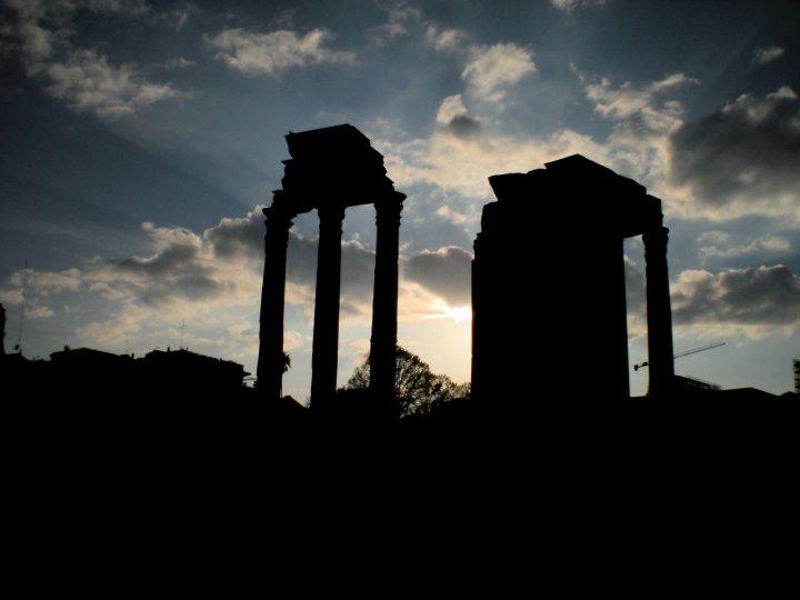Ruins at Sunset