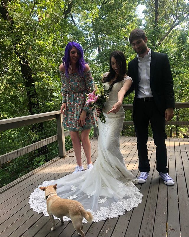 Our very own @the_watson got married yesterday! Also look! A pup!