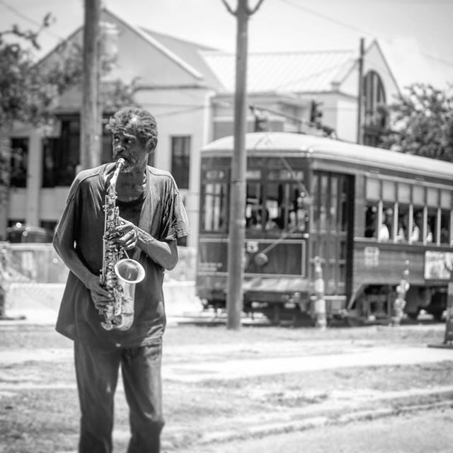#saxophone #nola #streetcar #thursdays #drewandnightandmusic