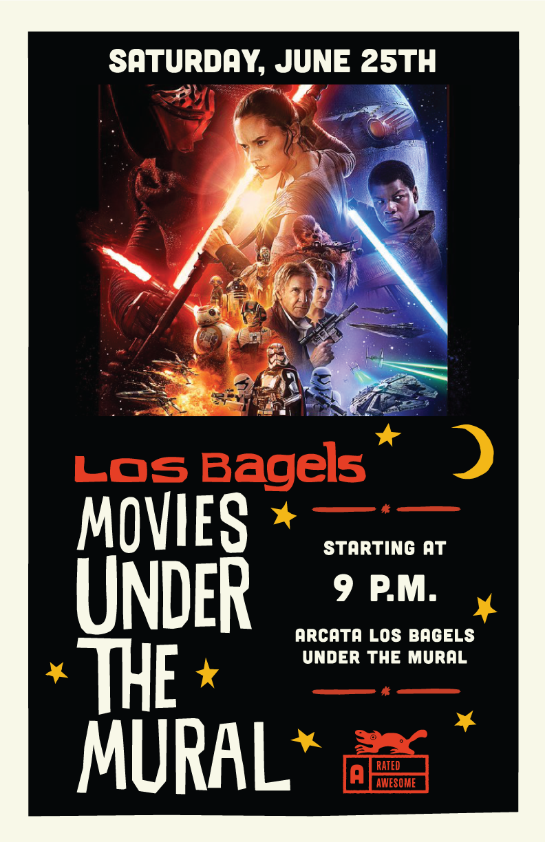Movies Under The Mural Poster Los Bagels