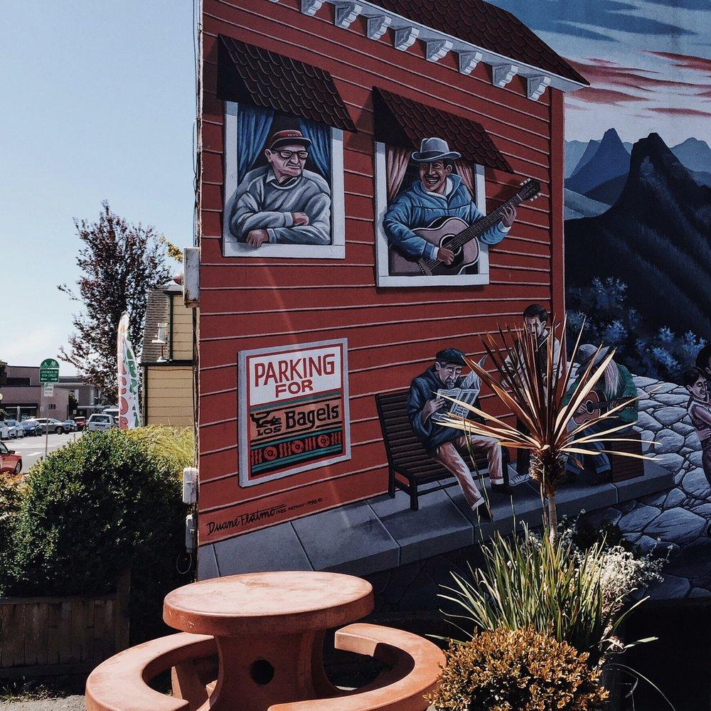 Los Bagels' Mural