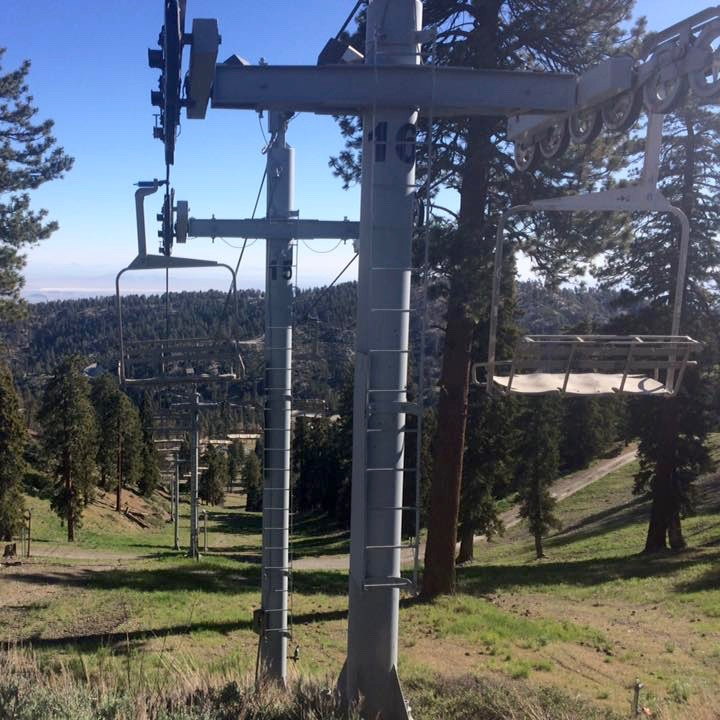 Ski lifts leading into Wrightwood, Photo Credit: Mariah Guay