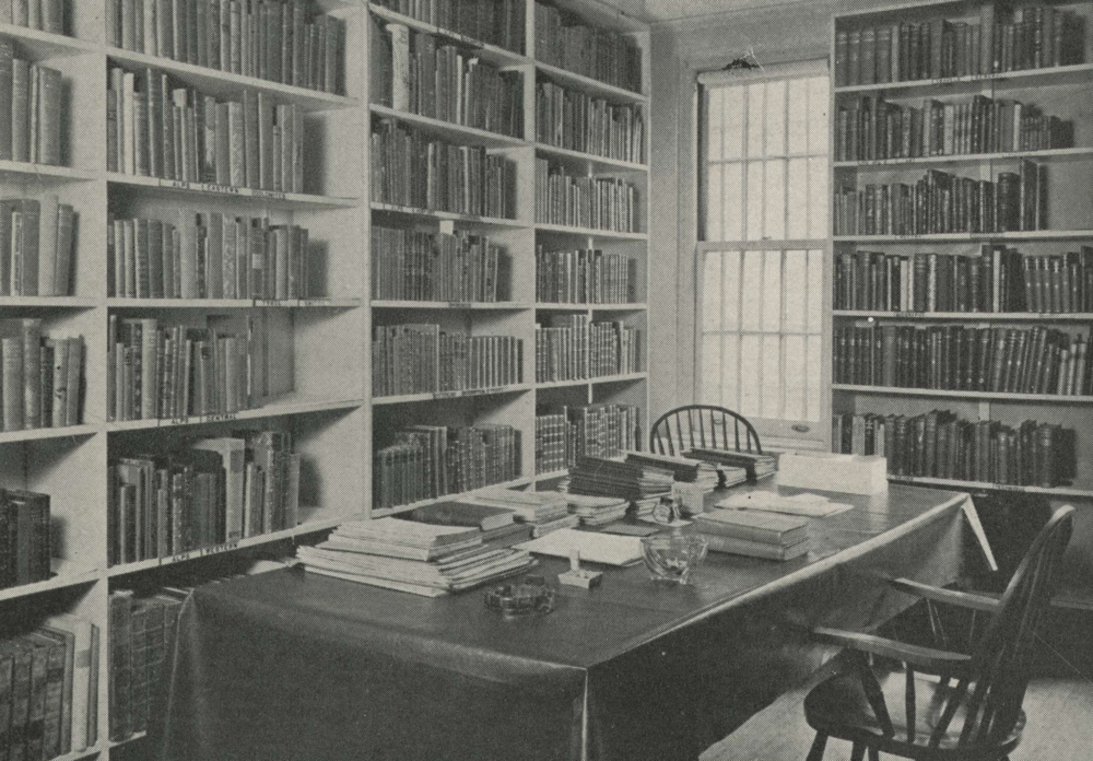 One of the library rooms at 130 East 46th Street, NYC, in 1936.                    Photo: E.P. Beckwith, American Alpine Journal, 1937.