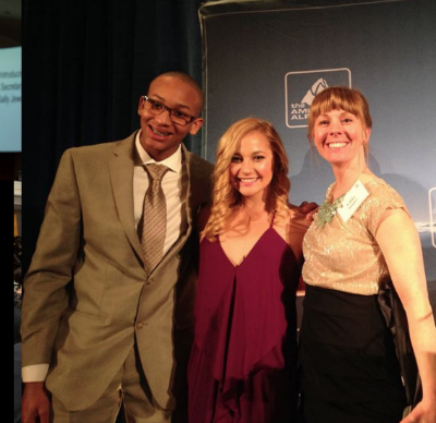 Left to Right: Kai Lightner, Sasha DiGiulian, Libby Sauter at last year's Annual Dinner.