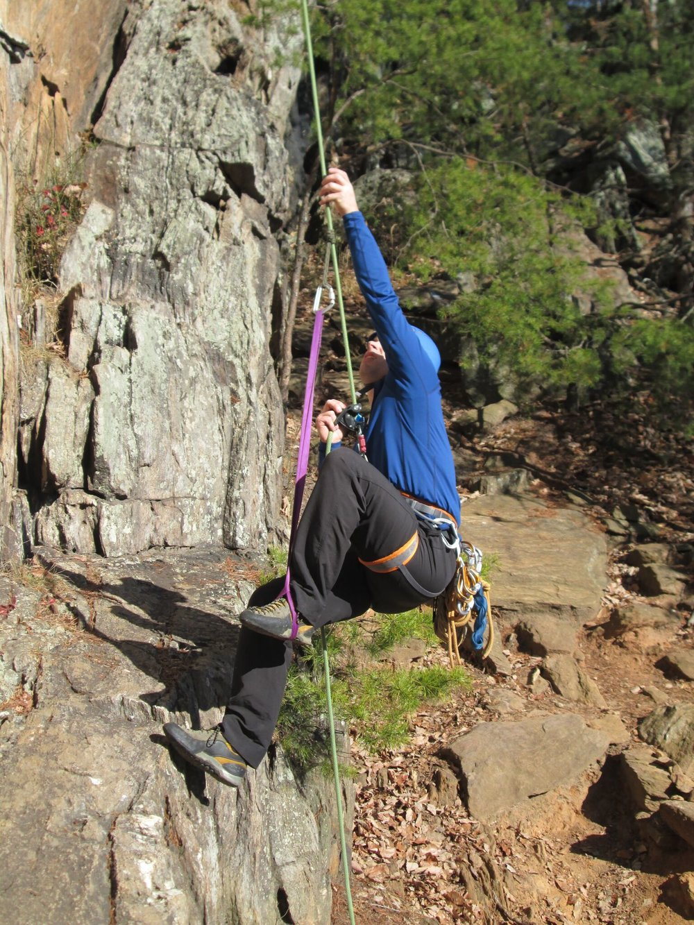 Many climbing instructors, like this one, learn to use an ABD for rope ascension.  As an improvised progress capture, these tools can be effective.