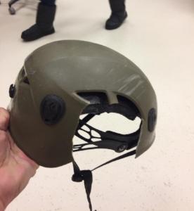 Ryan Montoya's climbing helmet.