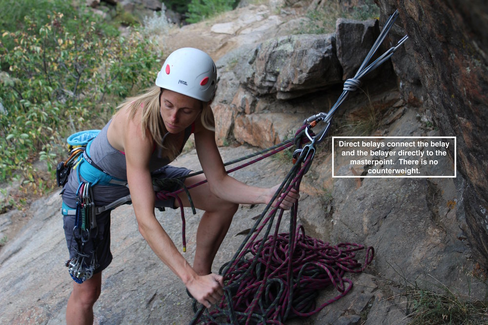 Belaying one or two seconds directly off the anchor is called a Direct Belay.  If an anchor is reliable, direct belays are more versatile and more manageable than alternative configurations.