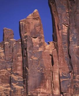Hummingbird Spire on the Bridger Jack formation. The accident was in the notch to the right. Photo by Brad Brandewie.