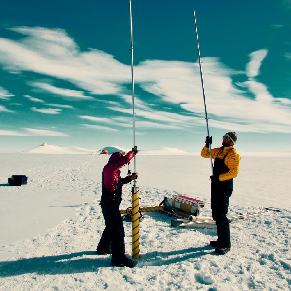 Photo courtesy of 2017 Research Grant recipient Dr. Alison Criscitiello, whose project involved drilling an ice core on northern Ellesmere Island, Nunavut, in the Canadian high Arctic, to investigate Arctic Ocean sea-ice variability and climate and pollutant histories.