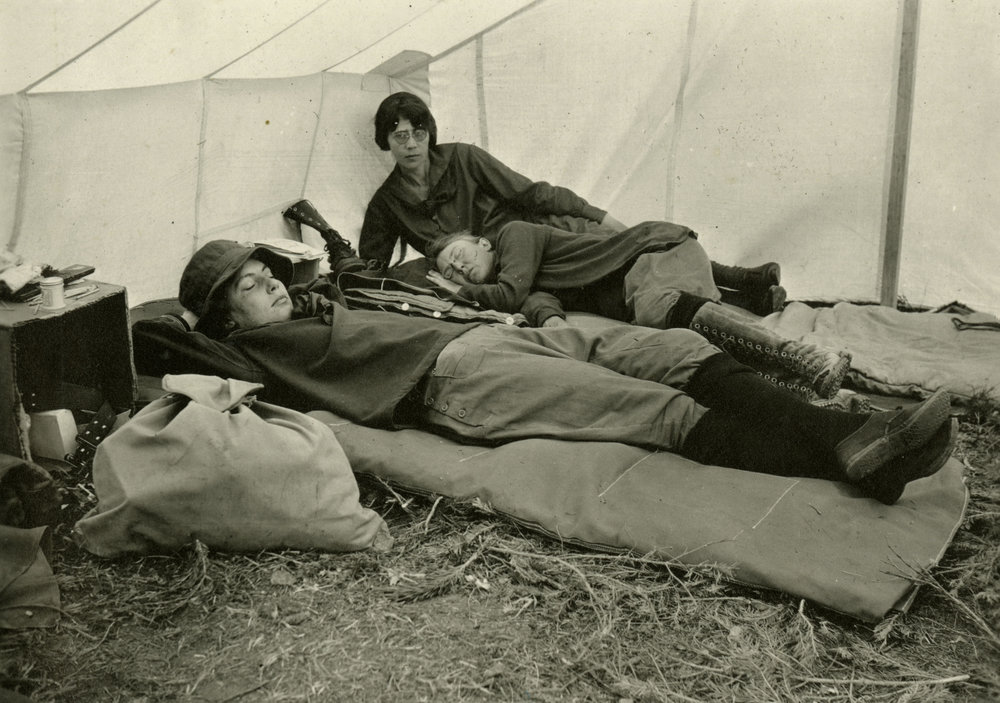 Women resting during a CMC outing in the 1920s.