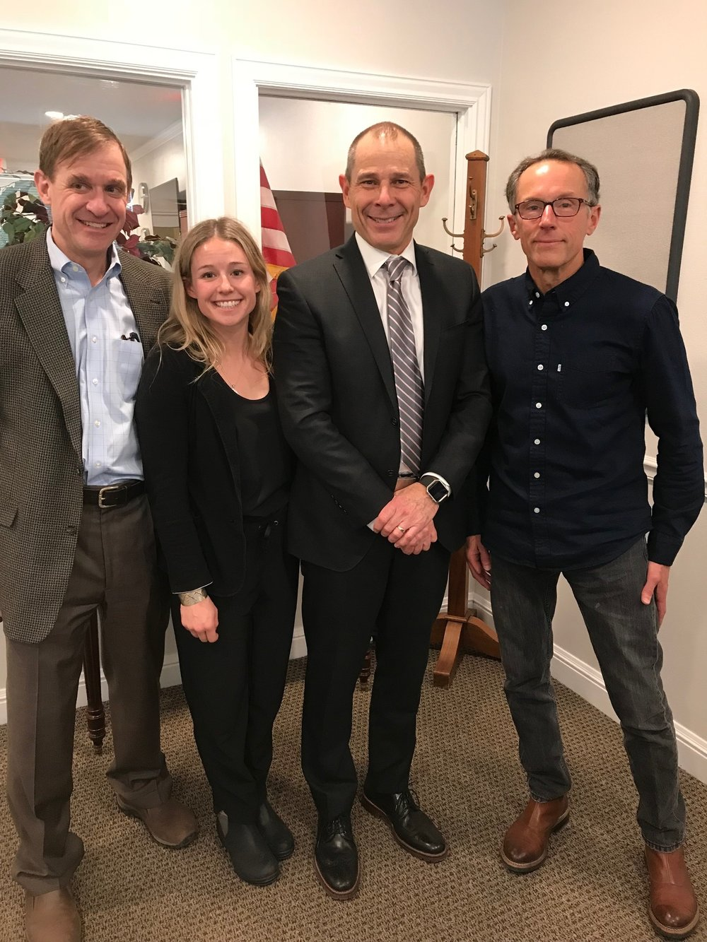 AAC Director and Policy Committee Member Peter Metcalf, incoming Director John Bird, and professional athlete and AAC member Caroline Gleich met with Congressman John Curtis to discuss the  AAC's opposition  to his bill on Bears Ears.