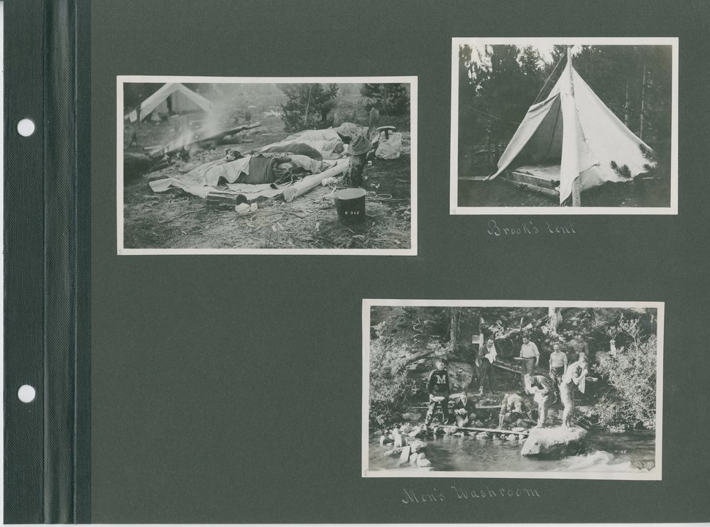 Top right: Brook's Tent, Bottom: Men's Washroom