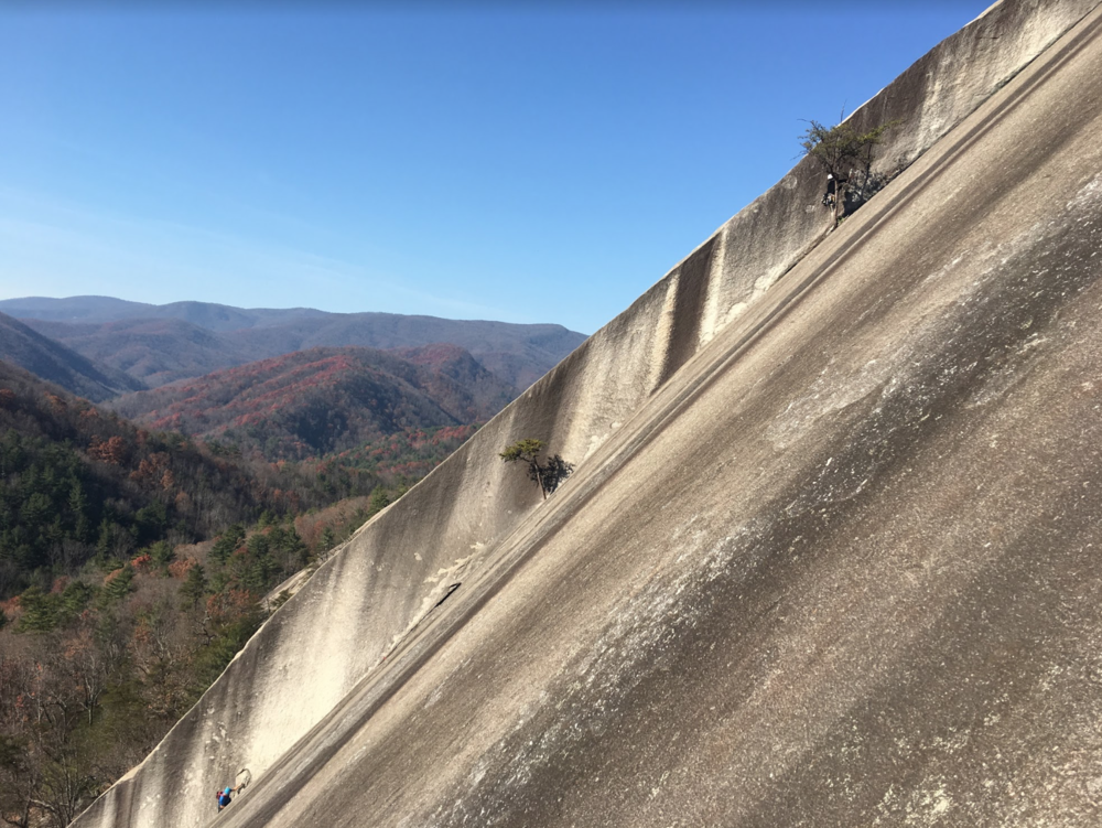 "Photo by AAC member Brian Payst of LWCF-funded climbing area Stone Mountain. ""Climbers have already reaped the rewards of the visionaries who established the LWCF and we're set to see further gains in the future, but we won't be able to unless it is reauthorized,"" Payst writes."