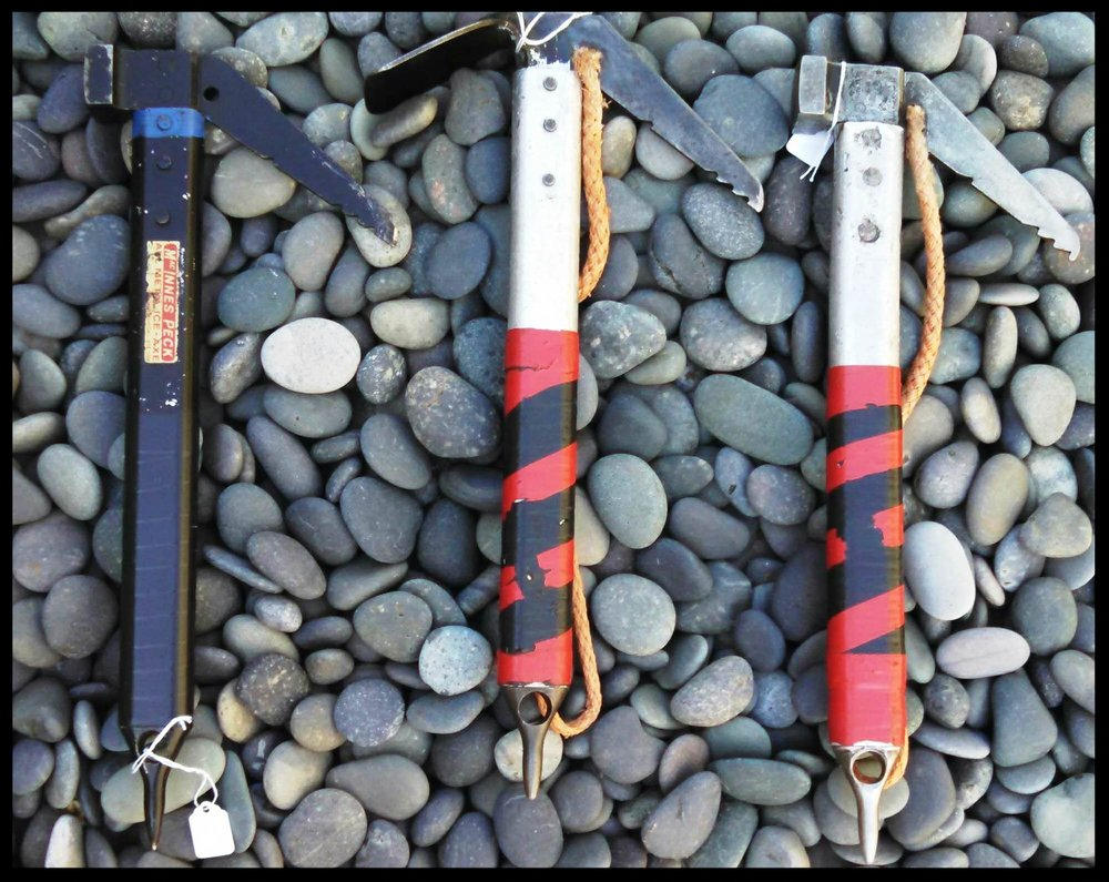 This photo of some lovely examples of MacInnes Terrordactylice axes is courtesy of the  Scottish Mountain Heritage Collection