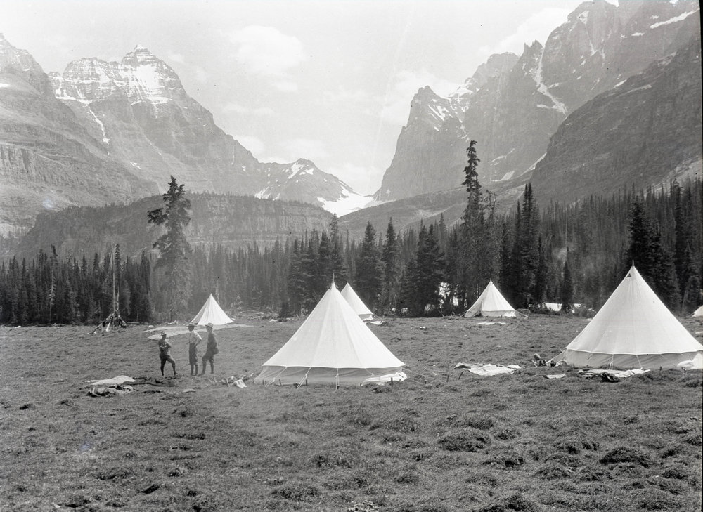 A camp in the Canadian Rockies