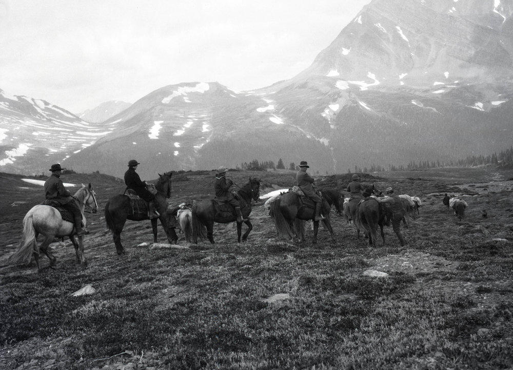 On horseback in the Tonquin Valley, Canada