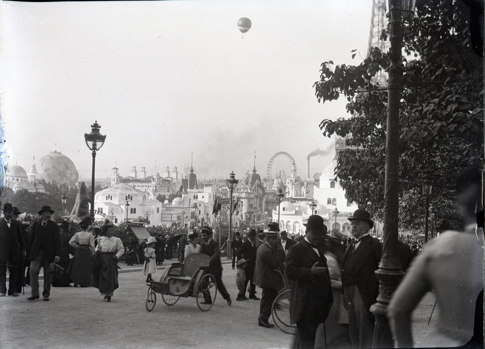 The Exposition Universelle of 1900 in Paris - very similar to a World's Fair, but art nouveau themed.