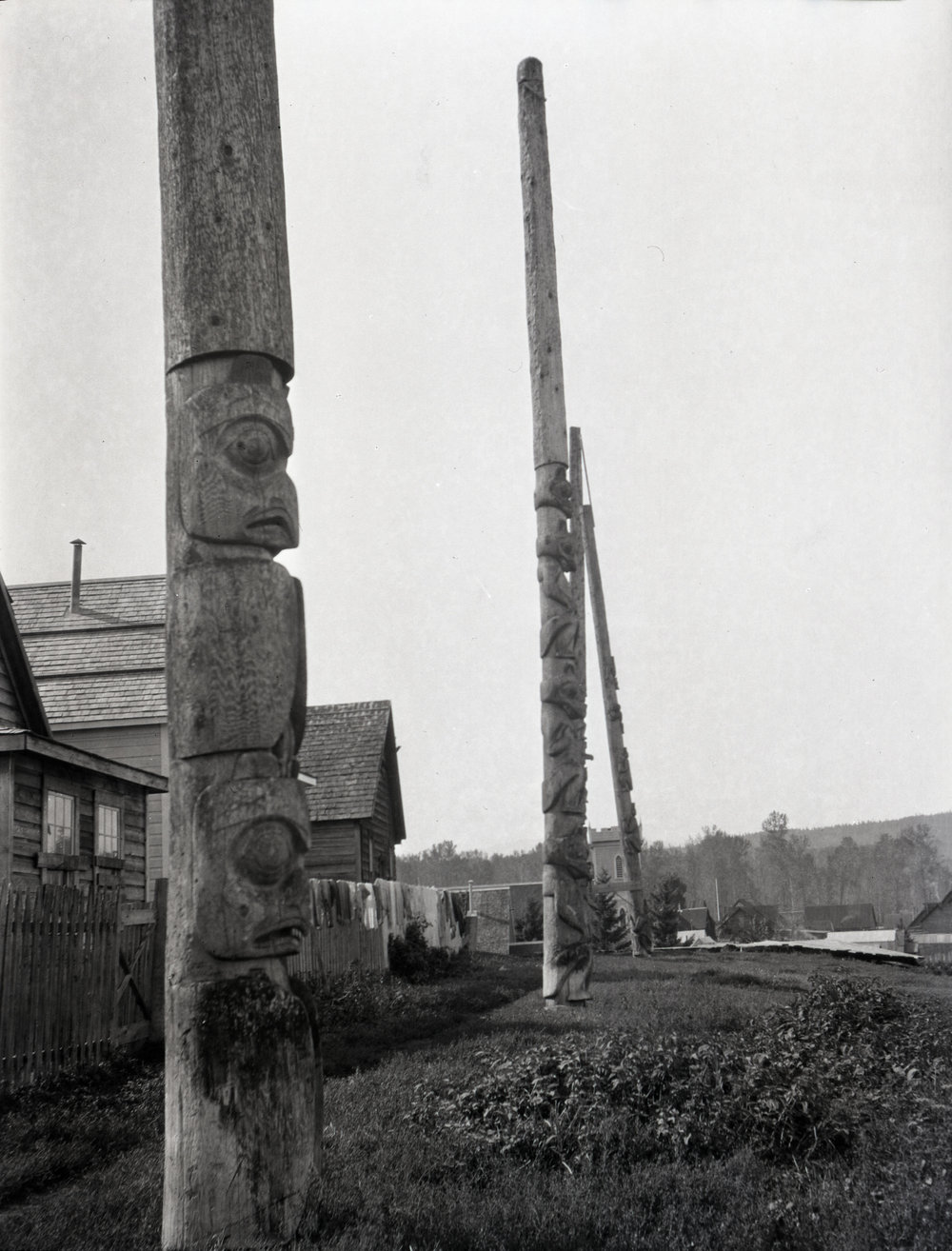 Totem poles at Hazelton, British Columbia